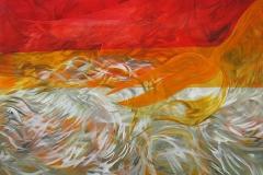 0142 kopfueber 7, 2017, 120x130 cm
