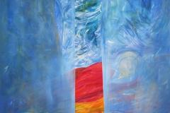 0144 der schlafende Buddha 2017, 150x160 cm