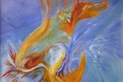 0147 kopfueber 9, 2017, 130x140 cm