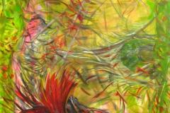 0055 Smaragd Dornroeschen,...das schwarze Huhn 2013, 180x100 cm