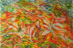 0056 Rotkaeppchens Blumenwiese 2013, 100x120 cm