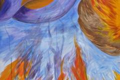 0167 Adler triftt Qualle 2018, 120x85 cm